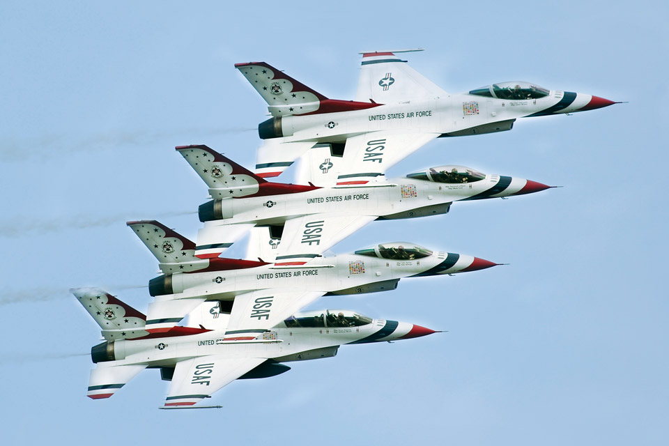 Thunderbirds at Cleveland National Air Show